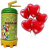 ocballoons - Bombola Elio USA Getta + 16 Palloncini Cuore Omaggio