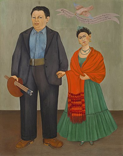 Berkin Arts Kahlo de Rivera Giclee Canvas Print Paintings Poster Reproduction(Frida and Diego Rivera) (Painting Of Frida Kahlo And Diego Rivera)