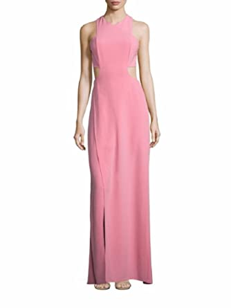 Halston Heritage Woman Cold-shoulder Stretch-crepe Gown Bright Pink Size 0 Halston Heritage WqkAczn