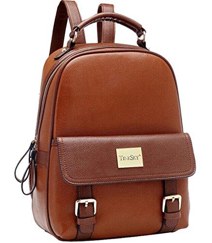 Tinksky® New Arrival Korean Fashion Bag Vintage Backpack College Students Schoolbag (Brown)