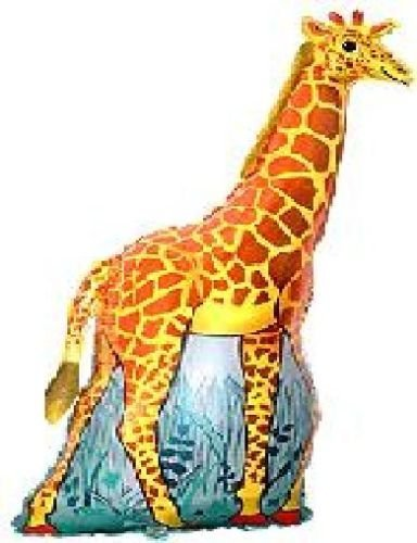 LoonBalloon GIRAFFE JUNGLE Zoo Safari Large Figure 45