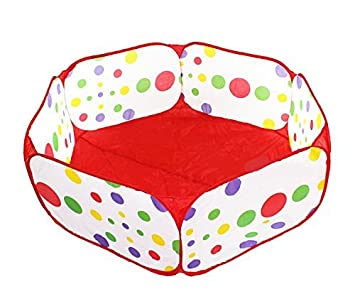 HOODDEAL Children Playpen Hexagon Polka Dot Baby Playard Indoor and Outdoor Easy Folding Tent with Carry Tote 1.5M