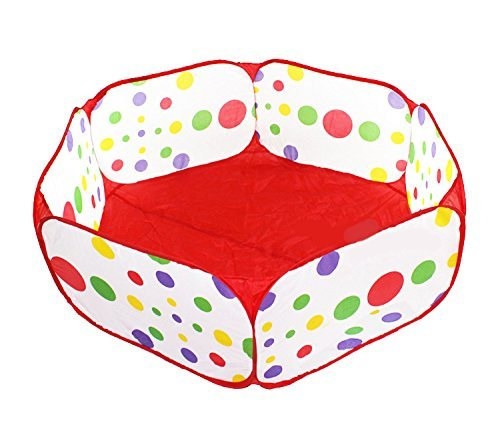 Hexagon Polka Dot Playpen For Babies (Balls NOT Included) Playpens for Puppy Dogs Pet 1.2M