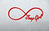jeep girl decal - Forever Jeep Girl Car Decal/Sticker (4 INCH, RED)
