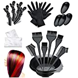 Hair Dye Kit- Dee Banna 20 Pieces Beauty Salon Hair Dye Care Coloring Kit, Hair Tinting Bowl, Dye Brush, Ear Cover, Gloves for DIY Salon Hair Dye Tools Hair Coloring Bleaching Hair Dryers Hair Dye Tools