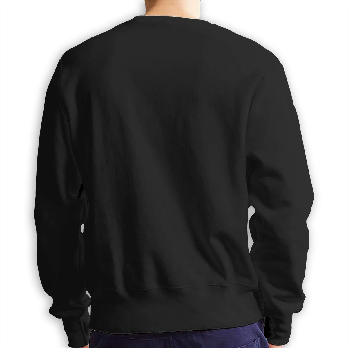 sretinez Mens Curious George Comfortable Crew Neck Sportswear Black