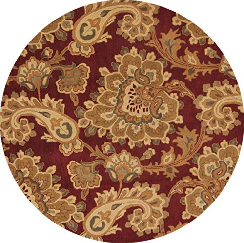 Rug Source New Oushak All-Over Floral Paisley Hand-Tufted 10x10 Red Wool Oriental Area Rug (10' 0
