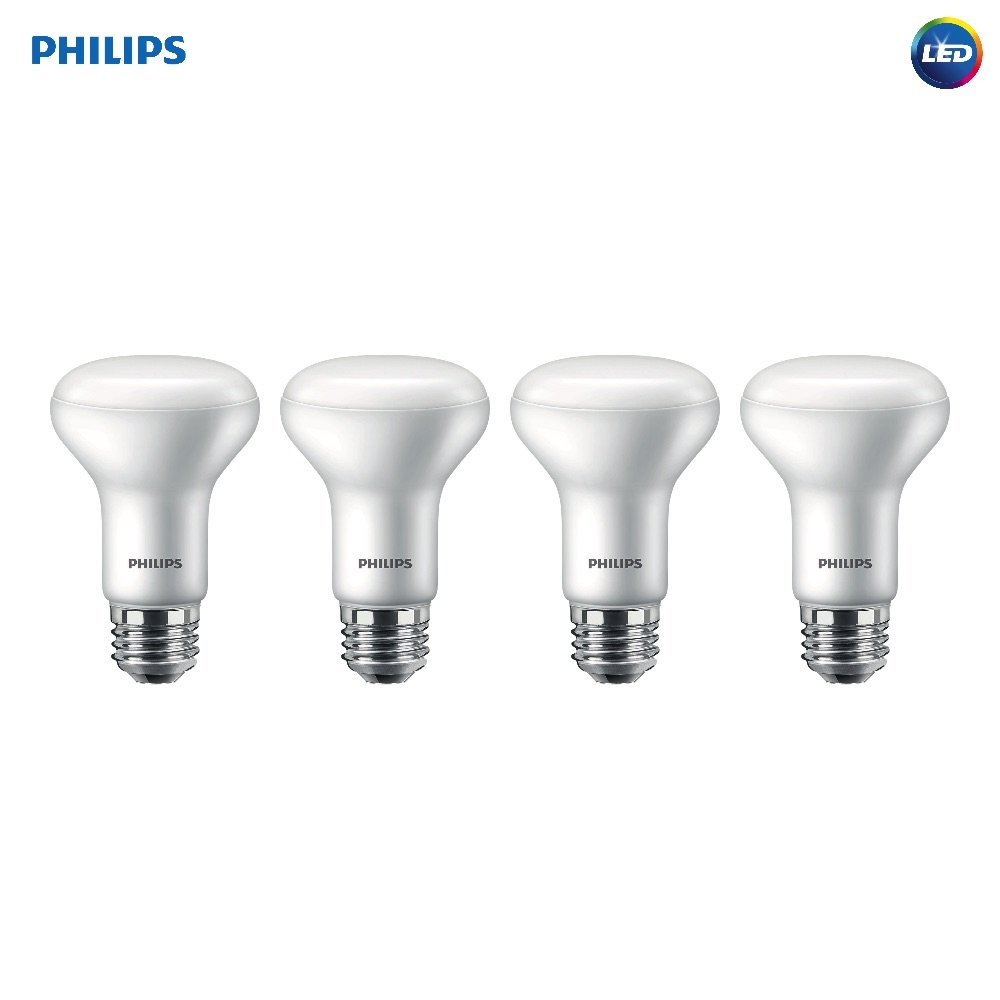 Philips LED Dimmable R20 Flood Light bulb with Warm Glow Effect: 450-Lumen, 2200-2700 Kelvin, 6-Watt (45-Watt Equivalent), E26 Base, Soft White, 4-Pack