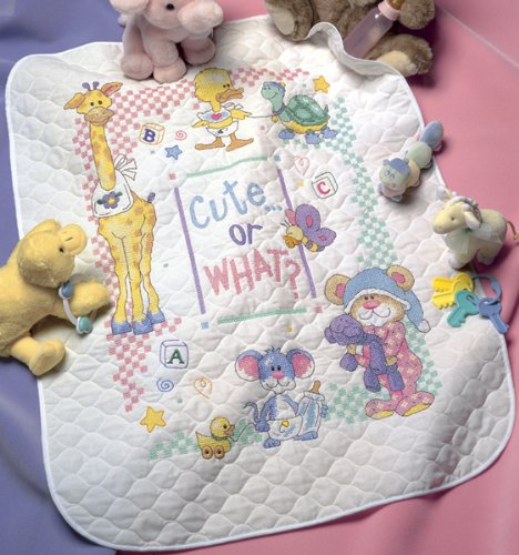 Cute Or What? Dimensions Stamped X Stitch quilt