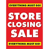 Store Closing Sale Retail Display Sign, 18″w x 24″h, 5 Pack
