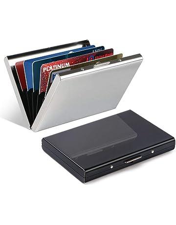 59e773aa7 Vicloon Tarjetero para Tarjetas de Crédita/Visita/Monedero, Delgado  Portatarjetas Metálico con RFID
