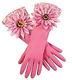 Flower Kitchen Gloves - Latex Heavy Duty Dish Washing Gloves