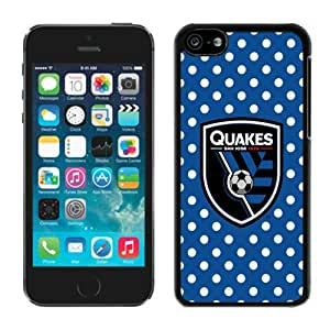 Fashionable And Antiskid Designed iPhone 5C Case MLS san jose earthquakes For iPhone 5C Protective Skin Cover Case 02 Black