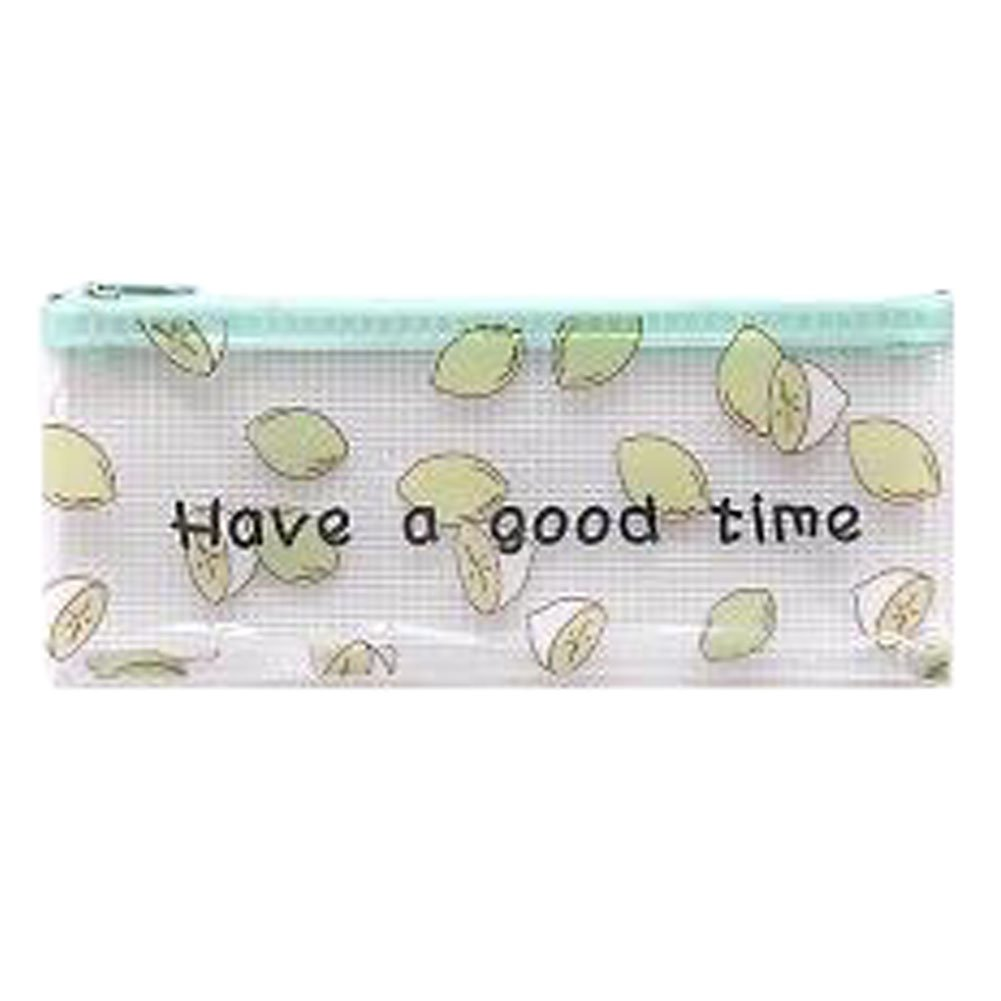 3PCS Cute File Bag Stationery Bag Pouch File Envelope for Office/School Supplies, Lemon B6