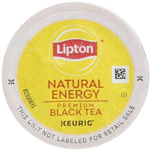 (Lipton K-Cup Portion Pack for Keurig Brewers, Natural Energy Premium Black Tea, 24 count.)