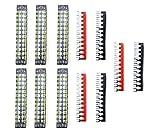 6 position terminal barrier strip - XLX 12pcs ( 6 Set ) 600V 15A 12 Positions Double Row Screw Terminal Strip and 400V 15A 12 Positions Red / Black Pre-Insulated Terminal Barrier Strip