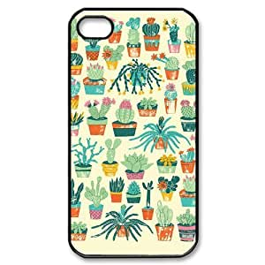 catus plants yellow cute pattern iPhone 4/4s Case Black by ruishername