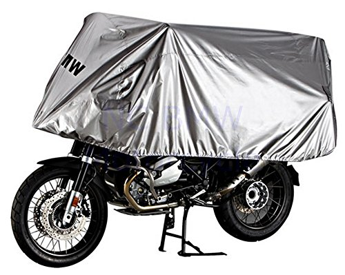 [BMW Genuine Half 1/2 Motorcycle Cover - Large R1200GS Adventure R1200R R1200RT F800GS F650GS (Twin) F800GT F800ST F800R K1200LT K1300GT K1300S K1600GT K1600GTL G650GS G450X S1000RR HP2 Sport] (Half Cover Motorcycle Covers)