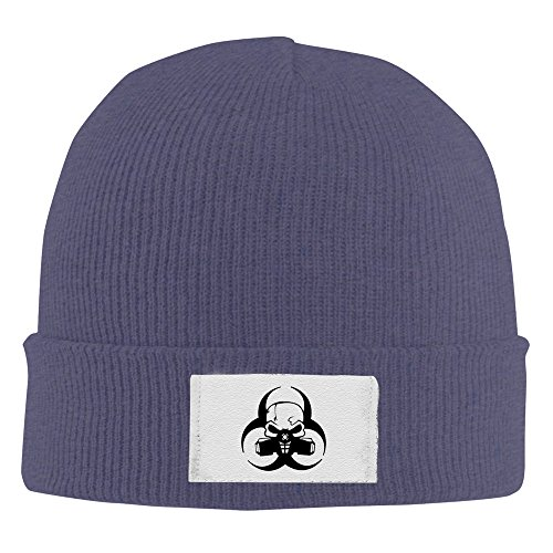 Skull Mask Gas Mask Navy Sweat Beanie