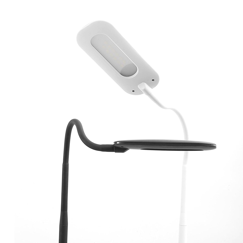 Trae KIYO LED Floor Lamp for Reading - Dimmable Adjustable Gooseneck Standing Lamp, Touch Control 3 Brightness Dimmer Levels, Memory Function Flexible Torchiere Floor Light for Living Room, Bedroom