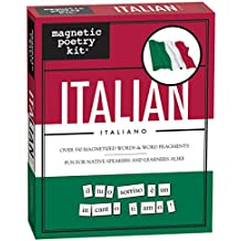 Magnetic Poetry - Italian Kit - Words for Refrigerator - Write Poems and Letters on the Fridge - Made in the USA