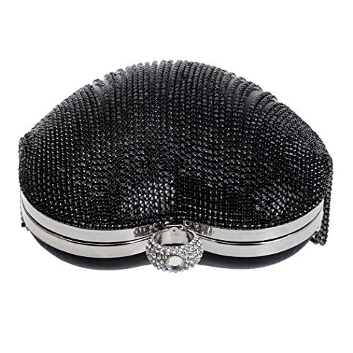 Ladies Party Exquisite Tassel Silver Clutch Bag Bag Club Banquet Fashion Bar Peach Rhinestone Night Bag Luxury Bag Women's Evening Wedding Heart For nq1wO6gg