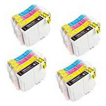 16 Pack - Toners & More ® Remanufactured Inkjet Cartridge Set for Epson T200XL #200XL T200 #200, T200XL120 Black, T200XL220 Cyan, T200XL320 Magenta, T200XL420 Yellow, Compatible with Epson WorkForce WF-2520, WF-2530, WF-2540, Expression XP-200 Small-in-One, XP-300 Small-in-On, XP-400 Small-in-One, XP-410 Small-in-One, XP-310 Small-in-One