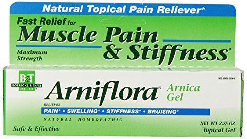 Boericke & Tafel Arniflora Arnica Natural Topical Pain Reliever Gel, Maximum Strength 2.75oz (Pack of 4)