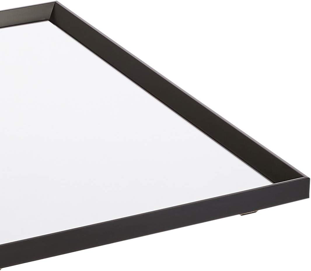 50,8 x 71,1 cm negro Basics Espejo para pared rectangular marco biselado