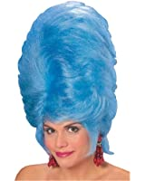 Women's Blue Beehive Costume Wig