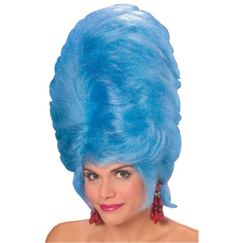 Rubie's Giant Beehive Wig, Blue, One Size -