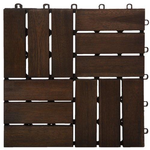 Garden Winds DT02-DB Twelve Slat Deck Tiles,...