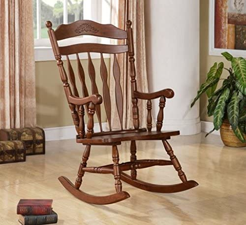 Wildon Home Grande Ronde Solid Wood Rocking Chair with Walnut Finish