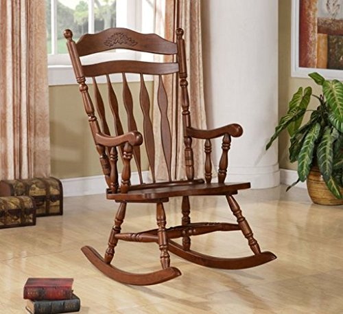 Wildon Home® Grande Ronde Solid Wood Rocking Chair with Walnut Finish by Wildon Home®