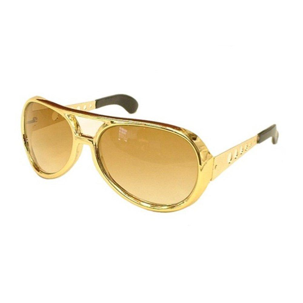 Amazon.com: Elvis anteojos de sol, talla única , Dorado ...