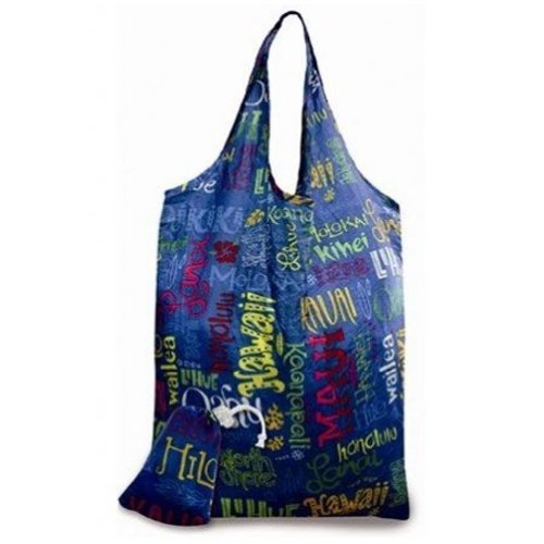 Hawaiian Island Doodles Eco-foldable Reusable Tote Bag ()