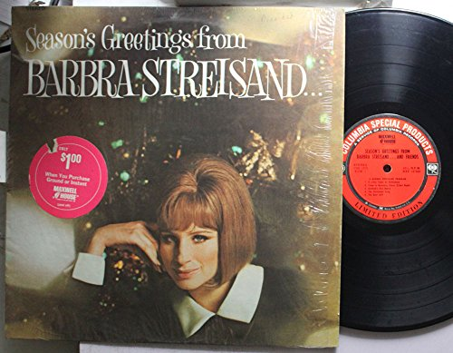 Seasons Greetings From Barbra Streisand and Friends a Columbia Special Products Issue Christmas Greetings Friend