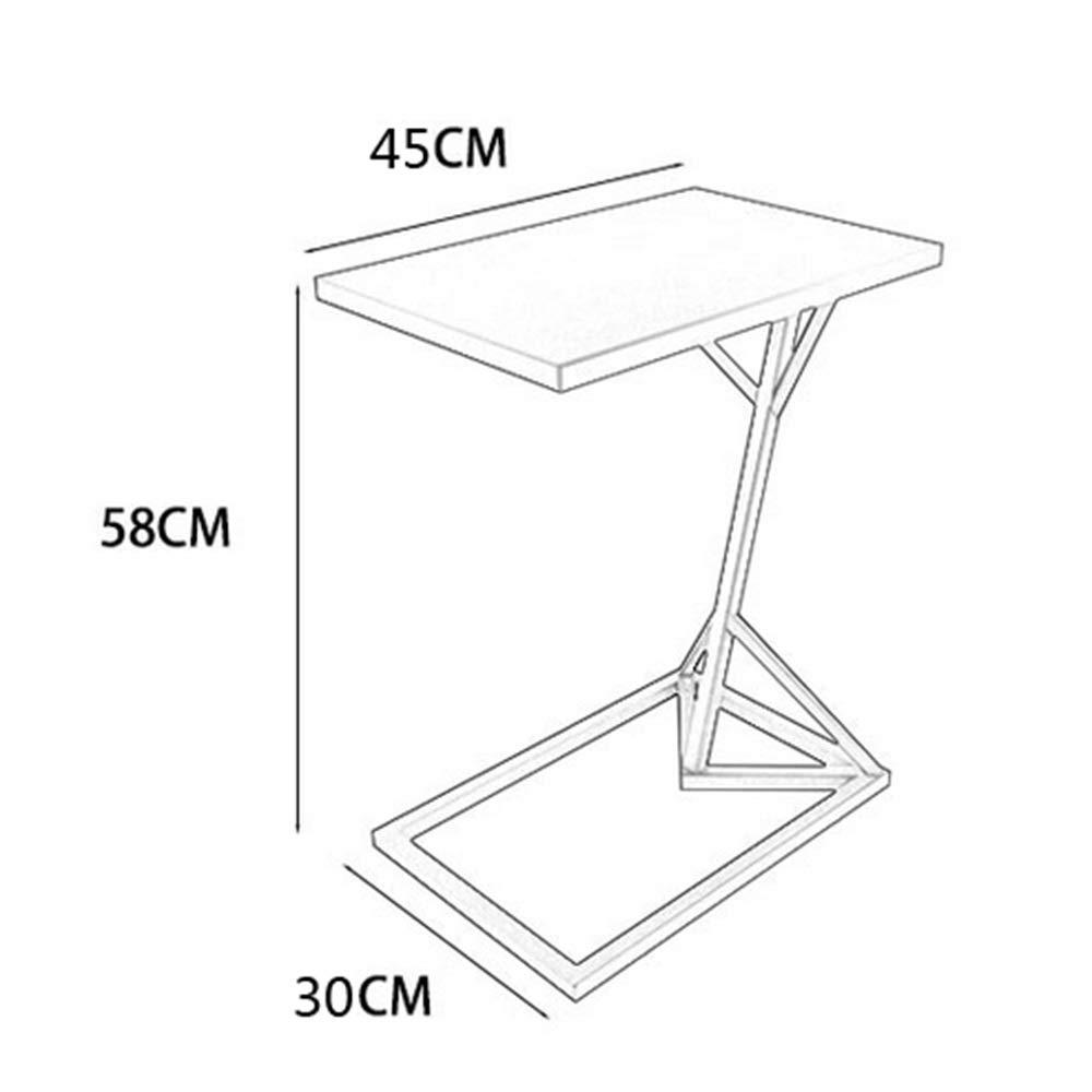 Colore : A tavolino da Salotto Oro 30 * 45 * 58 cm Feifei Tavolino Tavolino da Salotto Multifunzione in Ferro battuto a Forma di C Tavolo da Soggiorno