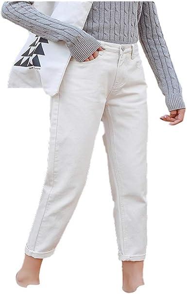 NOBRAND Jeans per le Donne Estate Vita Alta Plus Size Elasticit/à Lunghezza Alla Caviglia Sciolto Gamba Larga Femminile Pantaloni di Denim