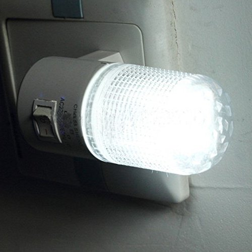 Good Small Night Light LED Plug in Lamp Energy Saving Bed-Lighting with Switch Socket (Toadstool From Mario)