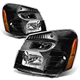 chevy equinox headlight assembly - Chevy Equinox SUV Sport 4-Dr Pair Black Housing Amber Corner Headlight Lamp Assembly