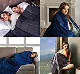 COMFOLAX Weighted Blanket + Removable Soft Minky
