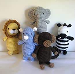 Amazoncom Safari Animals Crochet Pattern Set Ebook Amy Gaines