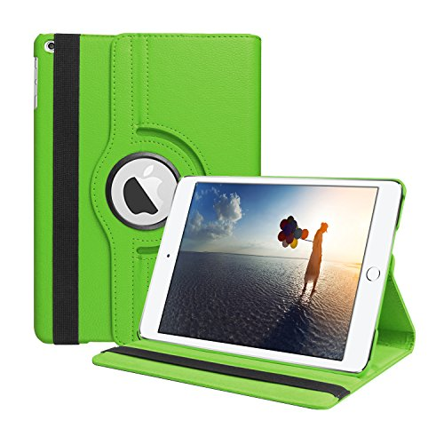 SYNTAK iPad 9.7 2018 / 2017 Case,360 Degree Rotating Stand Folio Case Heavy Duty PU Leather Impact Resistant Full Body Protective Cover for Apple iPad 9.7 inch