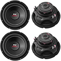 4) NEW Pyle PLPW15D 15 8000W Car Subwoofers Audio Power Subs Woofers DVC 4 Ohm