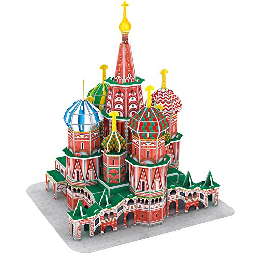 CubicFun 3D Cathedral Puzzles Small Russia Architecture Building Church Paper Craft Model Kits Toys for Adults, Children and Teens, St.Basils Cathedral