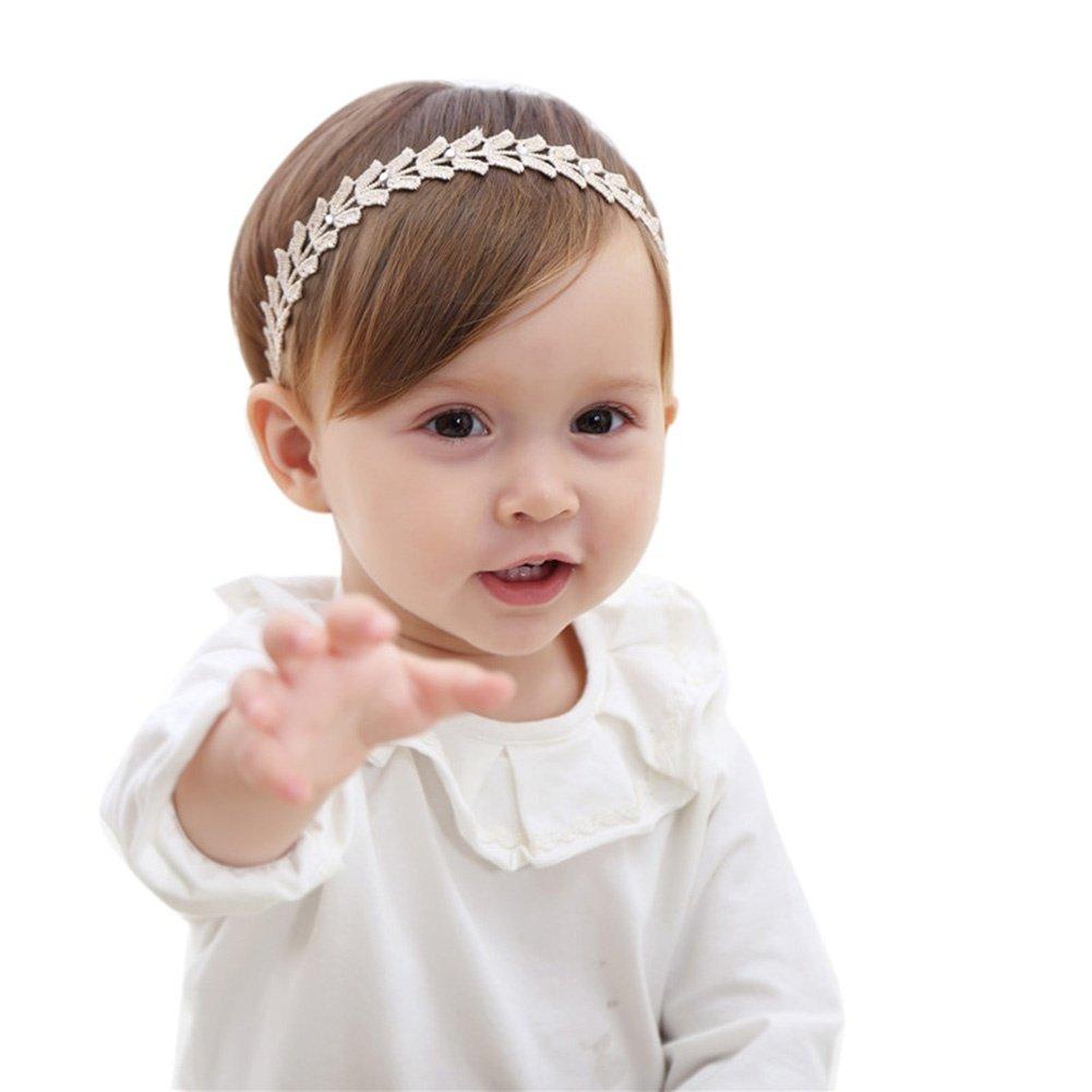 Amazon.com  Baby Girl Headbands Soft Lace Flower Elastic Princess Headband 42730d30a2c