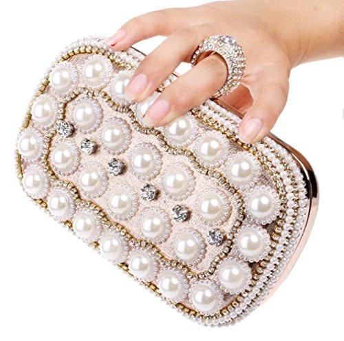 Perle Clubs À Glitter À À Mariage Pochette Dames Party De Antique Femmes Pour Sac Cadeau Main Sac Main Gold Enveloppe Sac Nuptiale Bandoulière Prom Soirée Diamante qwBvE8