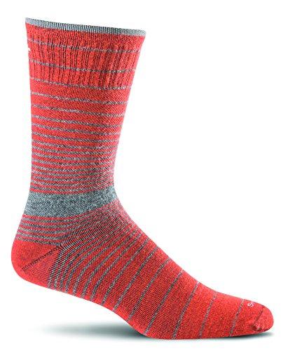 Sockwell Men's Plantar Ease Crew Socks, Ginger, Large/X-Large
