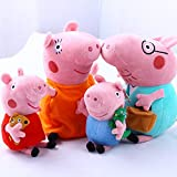 "4Pcs Family Plush Doll Stuffed Toy 12"" DADDY MOMMY 8"" PEPPA GEORGE - Bundle/Bulk Buy"
